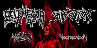 Belphegor, Suffocation, Abiotic, Necronomicon