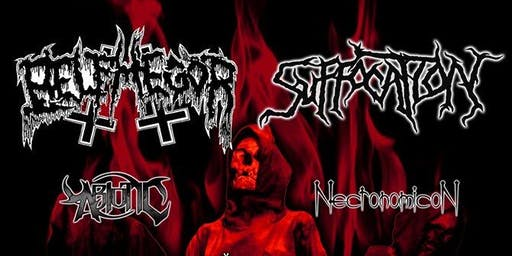 Belphegor, Suffocation, Abiotic, Necronomicon