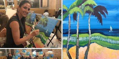 Beach Palms Painting Event at Craft Wine & Beer Bistro in Old Town