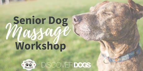 Massage for Senior Dogs tickets