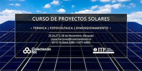 Curso de Proyectos Solares// Noviembre Neuquén 2019 entradas