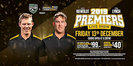 The Jack Riewoldt & Tom Lynch 2019 premiership show LIVE at Skyways Hotel! tickets
