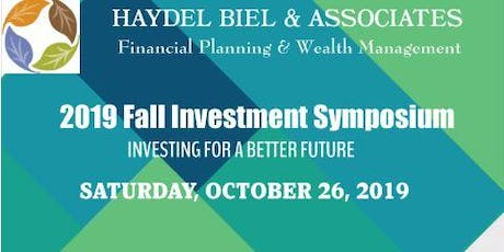 2019 FALL INVESTMENT SYMPOSIUM tickets