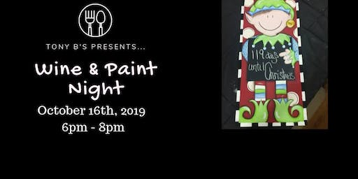Countdown til Christmas Wine & Paint Night