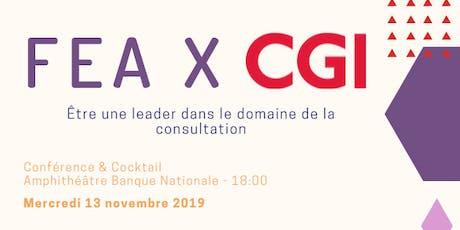 FEA x CGI - Être une leader dans le domaine de la consultation tickets