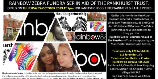 Rainbow Zebra Fundraiser for the Pankhurst Centre