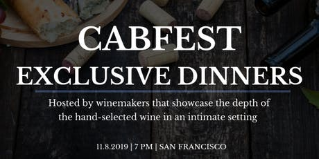 CABFEST Exclusive Dinners tickets