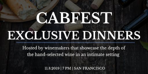 CABFEST Exclusive Dinners