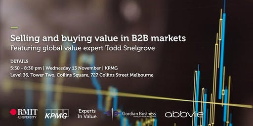 RMIT GBIC - Selling and buying value in B2B markets