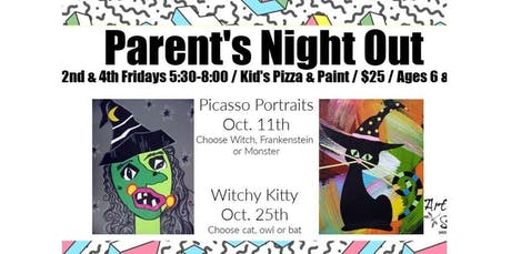 Parent's Night Out: Kids Pizza & Paint (2019-10-25 starts at 5:30 PM) tickets