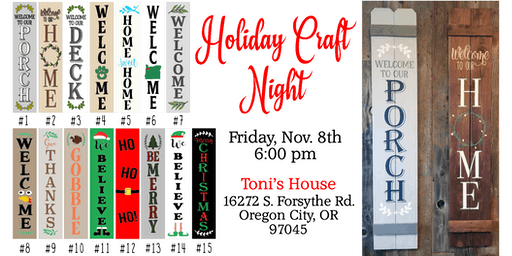 Toni's Holiday Craft Night