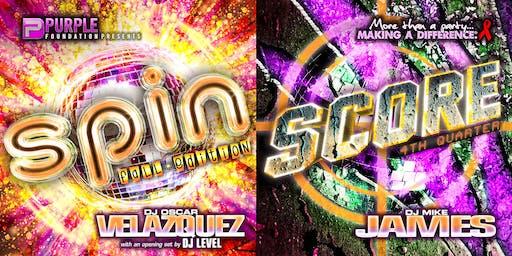 SPIN w/ Oscar Velazquez + SCORE w/ Mike James