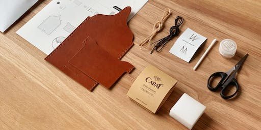 Leather card holder & leaf-shaped book mark making class