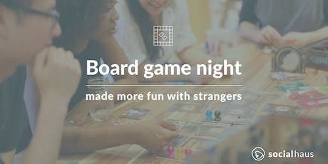 Board game night with strangers, make a friend tickets