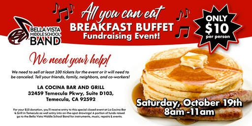 La Cocina Fundraiser Breakfast for BVMS Band