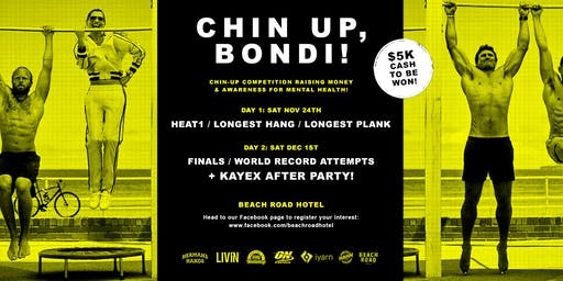 Registration Chin Up, Bondi!