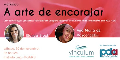 Workshop A arte de Encorajar ingressos