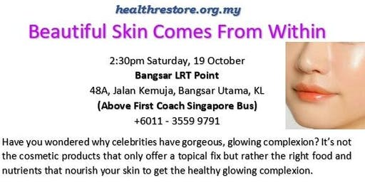 Beautiful Skin Comes from Within