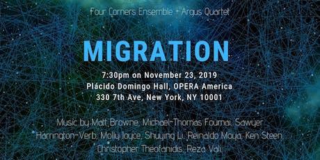 """Four Corners Ensemble + Argus Quartet """"Migration"""" tickets"""