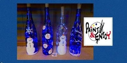 "Paint and Enjoy at Stony Run Brew House ""Bottle with lights """