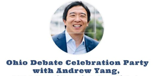 Ohio Debate Celebration Party with Andrew Yang!