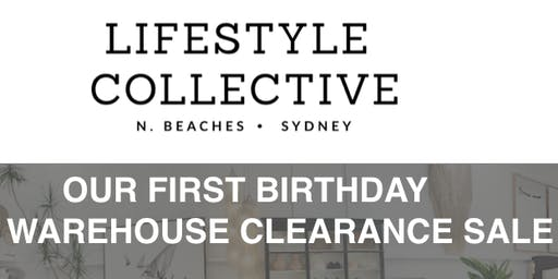 Lifestyle Collective Northern Beaches - 1st Birthday Warehouse Sale