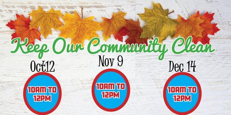 December Community Clean Up tickets