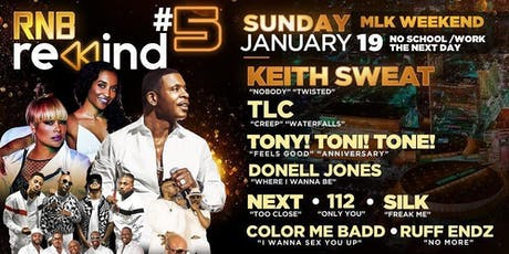 Keith Sweat, TLC, Next, 112, Silk, Donell Jones & more tickets