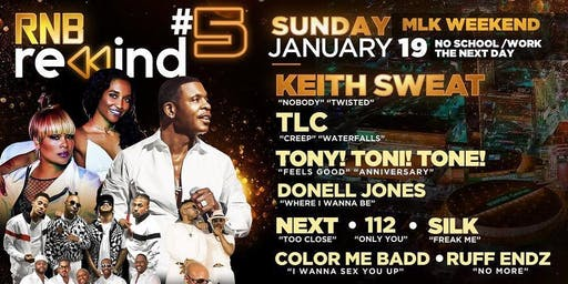 Keith Sweat, TLC, Next, 112, Silk, Donell Jones & more