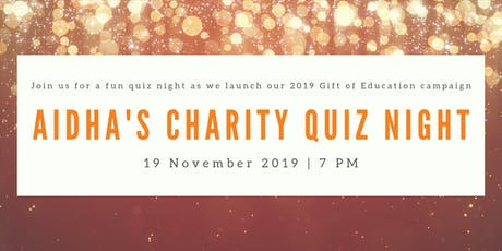 Aidha's Charity Quiz Night tickets