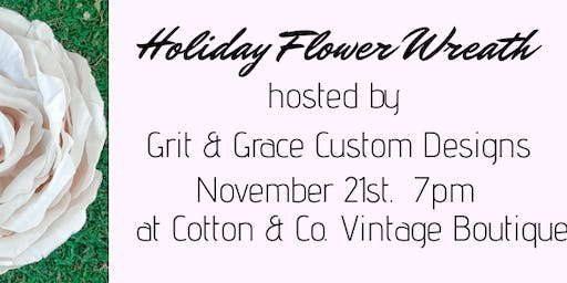 Holiday Floral Wreath Class