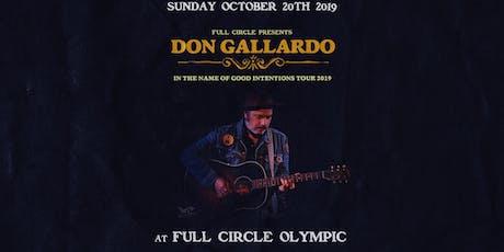 Don Gallardo at Full Circle Olympic tickets
