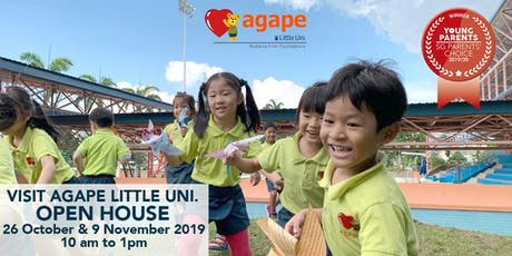 Agape Little Uni. Open House 26 October and 9 November 2019 tickets