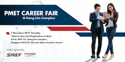 PMET Career Fair @ Hong Lim Complex - 7 Nov 2019