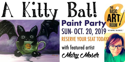 A Kitty Bat Kids Paint Party