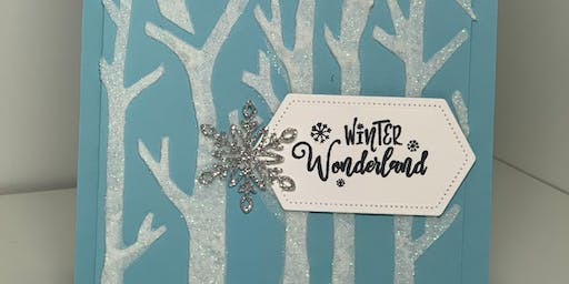 Winter holiday card technique class