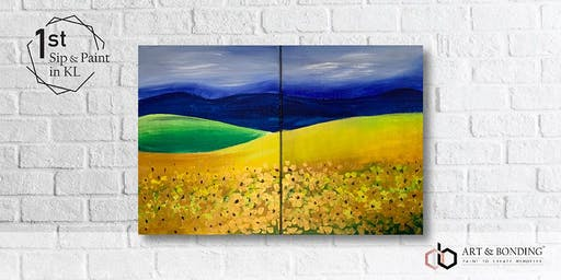Sip & Paint Date Night : Golden Field
