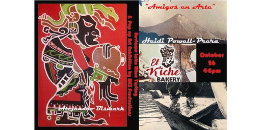 """""""Amigos en Arte"""" 1st Pop Up Art Exhibition at El Kiche Bakery and Cafe by MIX Productions"""