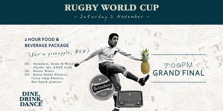 Rugby World Cup Grand Final Pineapple Package tickets
