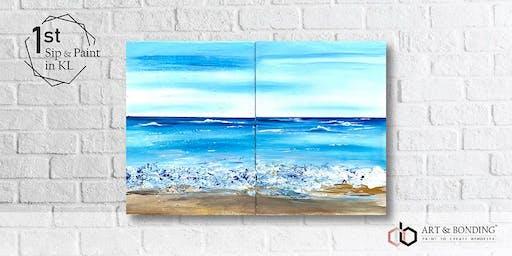Sip & Paint Date Night : Textured Beach