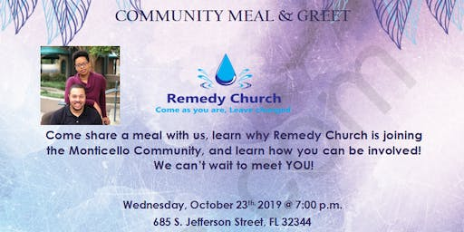 Remedy Church Monticello Meal & Greet