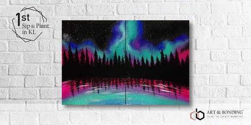 Sip & Paint Date Night : Aurora Galaxy
