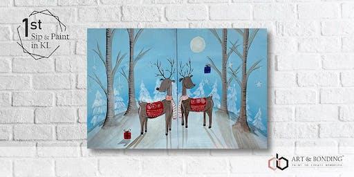Sip & Paint Date Night : Reindeers