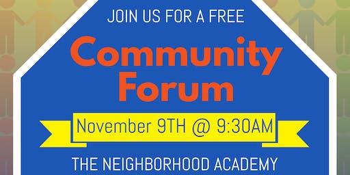 Community Forum At The Neighborhood Academy