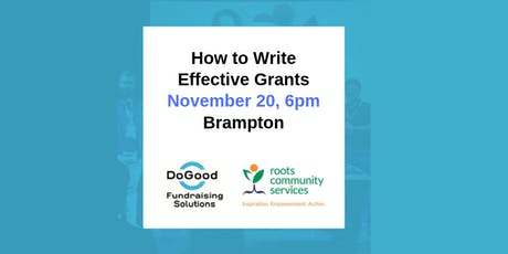 How to Write Effective Grants tickets