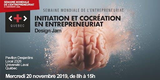 Initiation et cocréation en entrepreneuriat - Design Jam