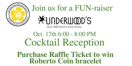 Cocktail Reception FUN-raiser at Underwood Jeweler's