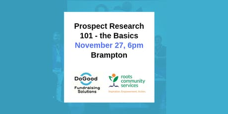 Prospect Research 101 - The Basics tickets