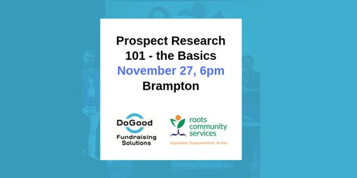 Prospect Research 101 - The Basics