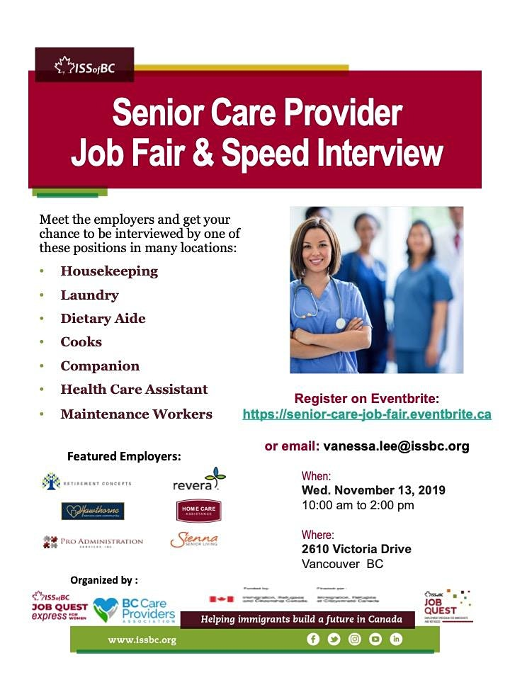 Senior Care Provider Job Fair & Speed Interview image